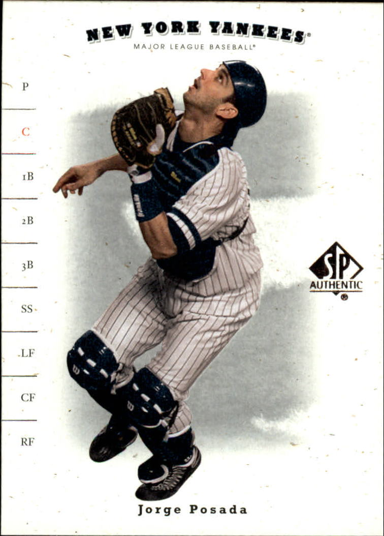 2001 SP Authentic #40 Jorge Posada