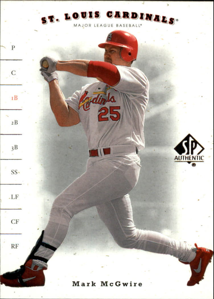 2001 SP Authentic #51 Mark McGwire front image
