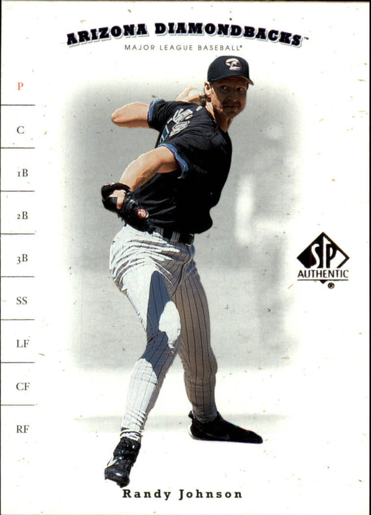 2001 SP Authentic #58 Randy Johnson