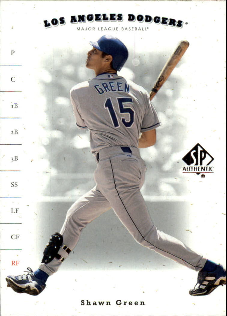 2001 SP Authentic #62 Shawn Green
