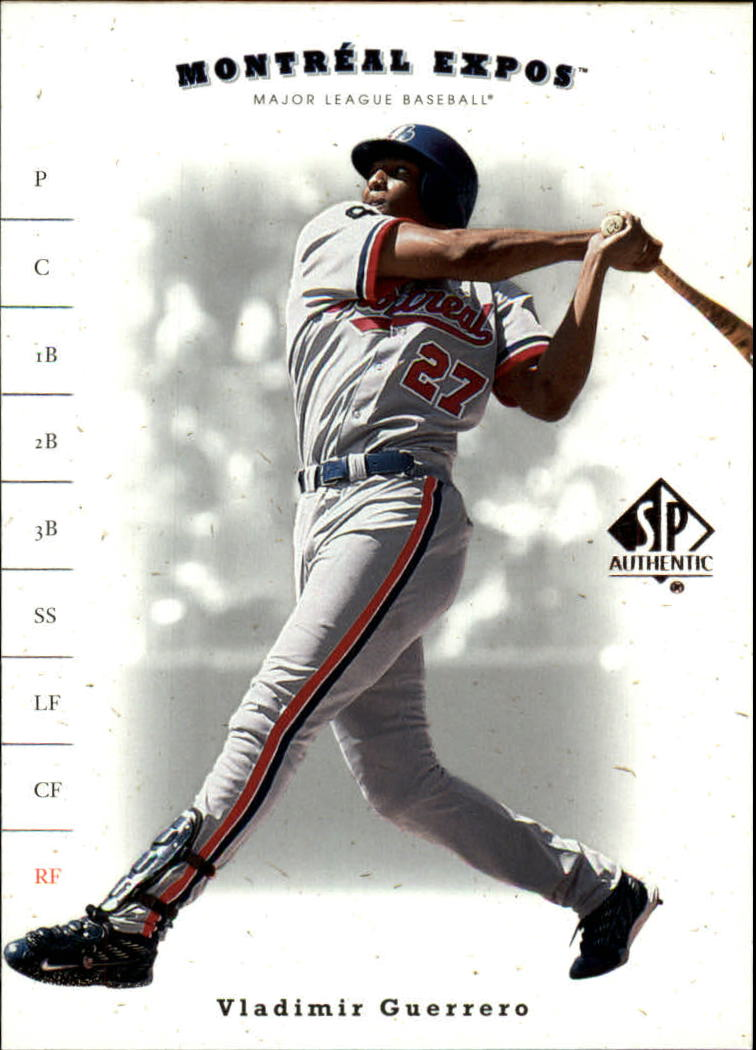 2001 SP Authentic #64 Vladimir Guerrero