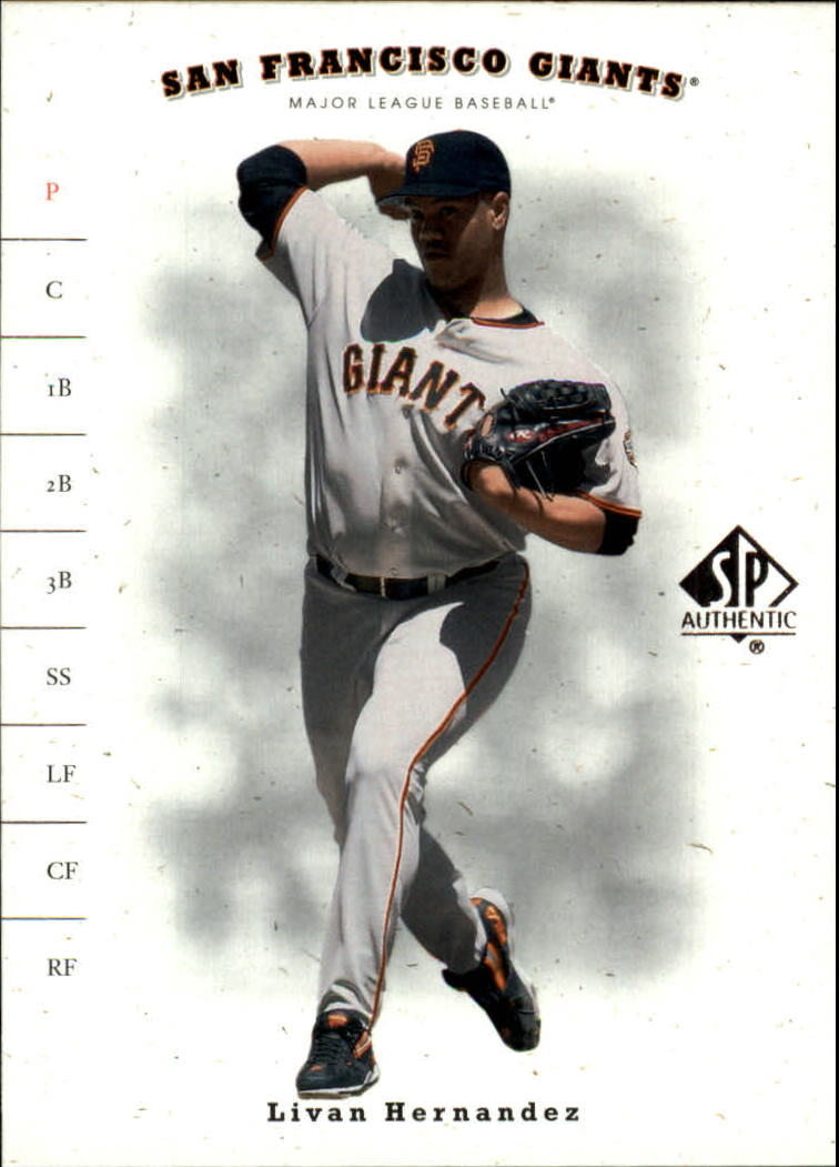 2001 SP Authentic #68 Livan Hernandez