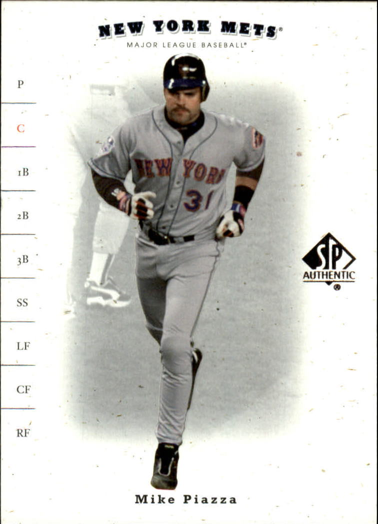 2001 SP Authentic #72 Mike Piazza front image