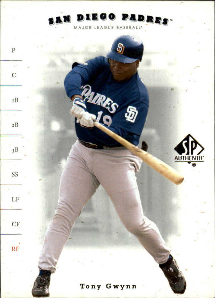 2001 SP Authentic #76 Tony Gwynn