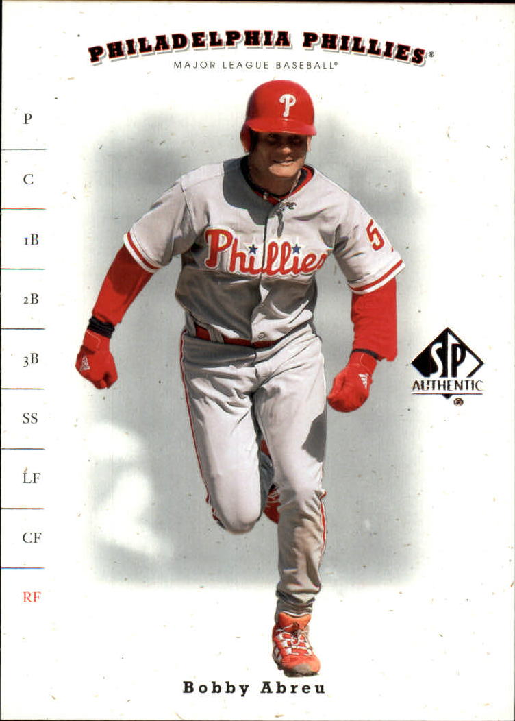 2001 SP Authentic #81 Bob Abreu