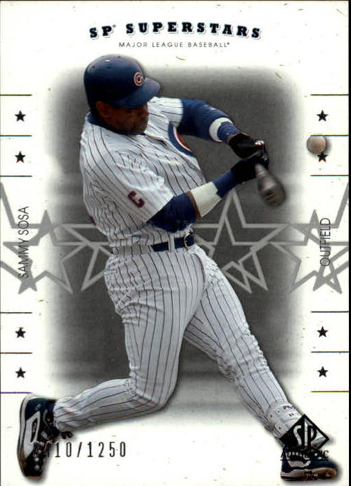 2001 SP Authentic #140 Sammy Sosa SS