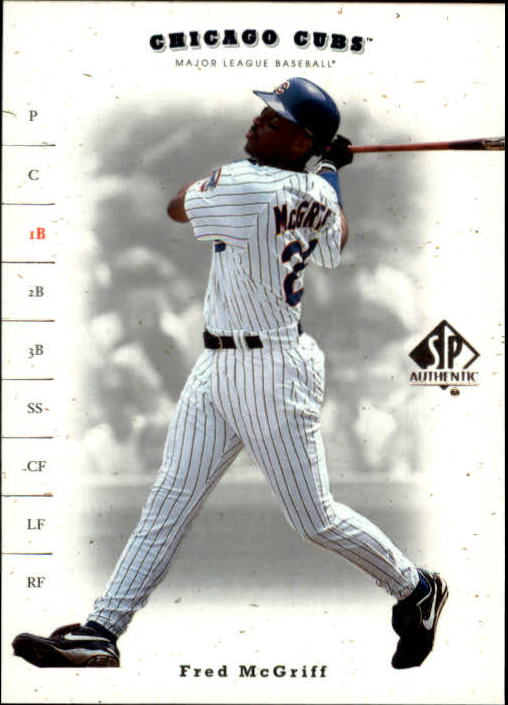 2001 SP Authentic #199 Fred McGriff