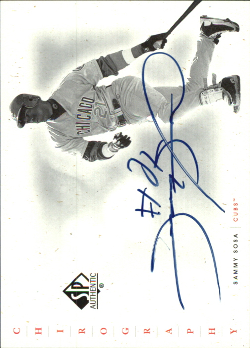 2001 SP Authentic Chirography #SS Sammy Sosa SP/76