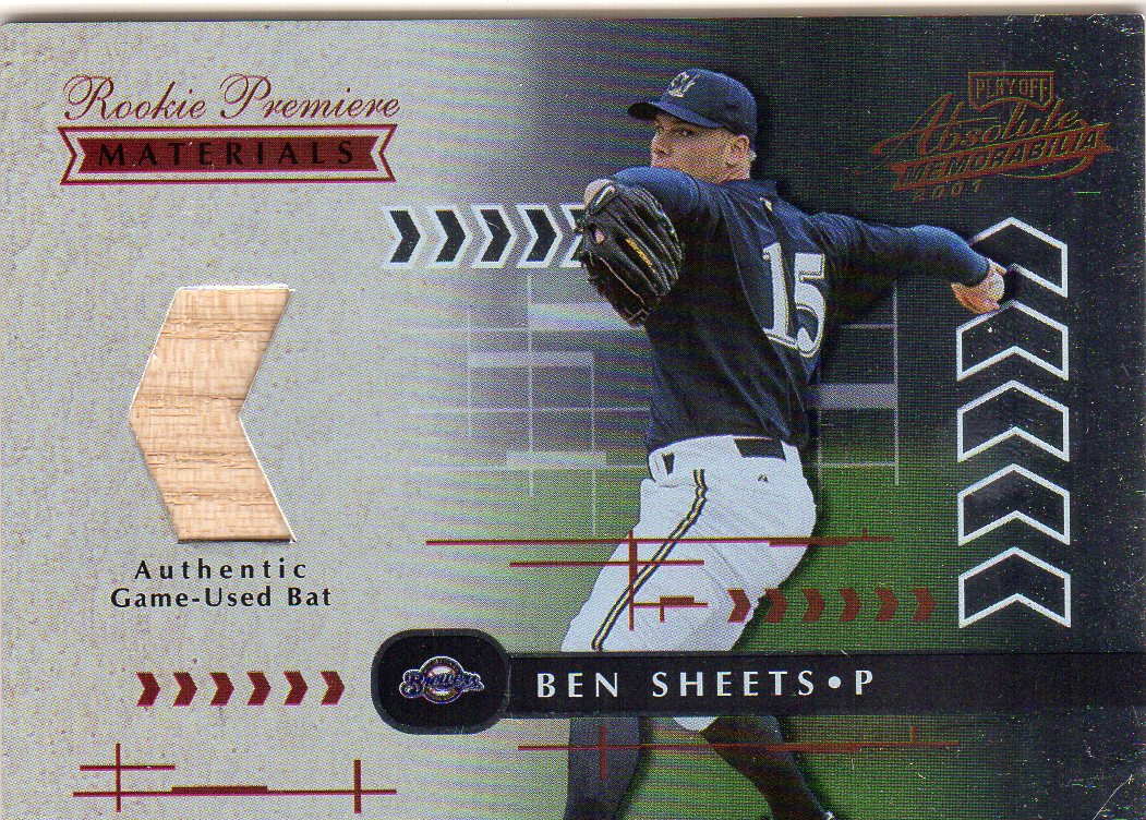 2001 Absolute Memorabilia #161 Ben Sheets RPM