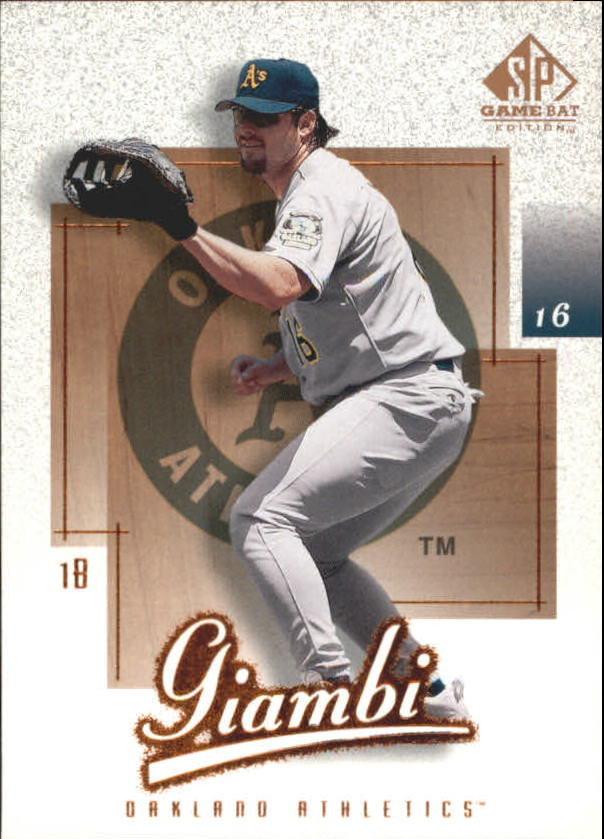 2001 SP Game Bat Edition #4 Jason Giambi