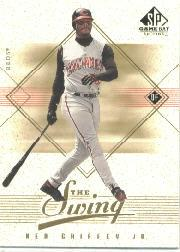 2001 SP Game Bat Edition In the Swing #IS1 Ken Griffey Jr. front image