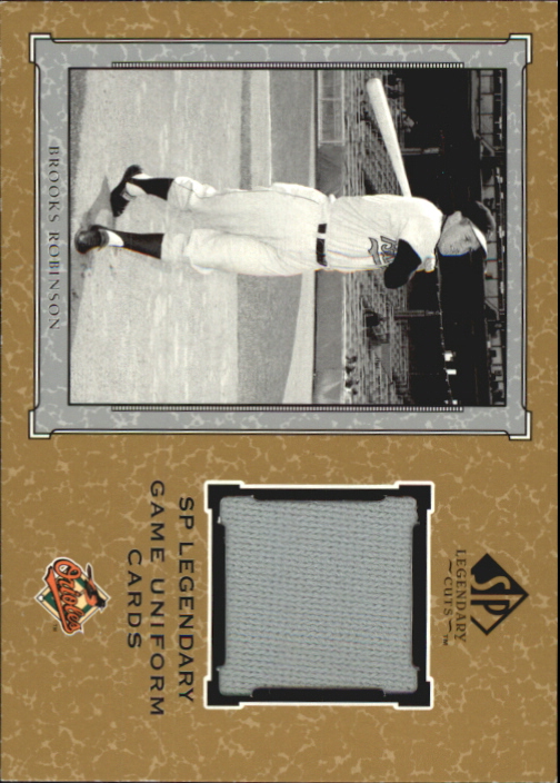 2001 SP Legendary Cuts Game Jersey #JBRO Brooks Robinson Uni