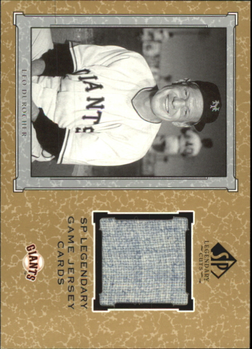 2001 SP Legendary Cuts Game Jersey #JLD Leo Durocher Jsy