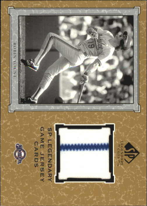 2001 SP Legendary Cuts Game Jersey #JRY Robin Yount Jsy