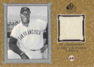 2001 SP Legendary Cuts Game Jersey #JWM Willie McCovey Uni *