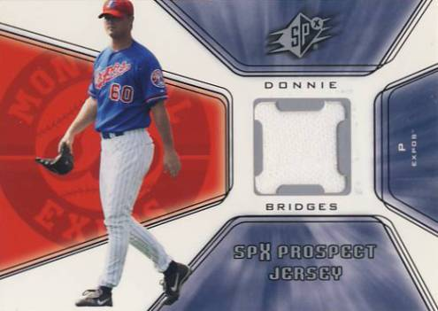 2001 SPx #124 Donnie Bridges JSY