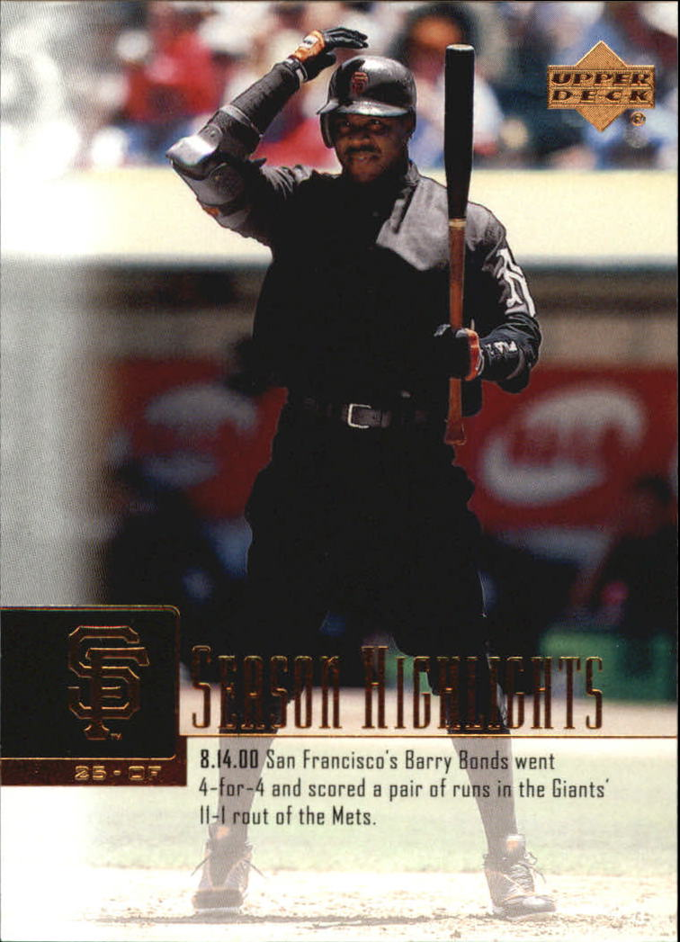 2001 Upper Deck #267 Barry Bonds SH