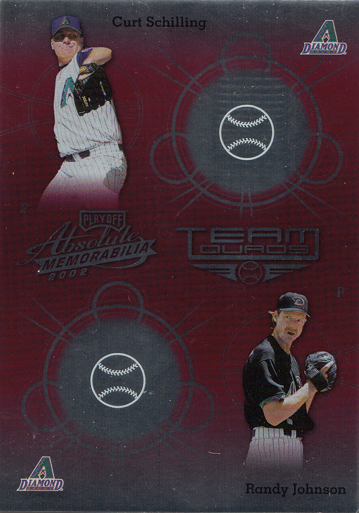 2002 Absolute Memorabilia Team Quads #2 Schill/Randy/Gonz/Grace