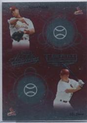 2002 Absolute Memorabilia Team Quads #19 Pujols/Drew/Edmonds/Tino