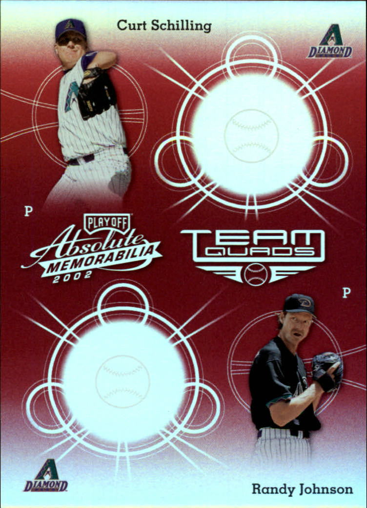 2002 Absolute Memorabilia Team Quads Spectrum #2 Schill/Randy/Gonz/Grace