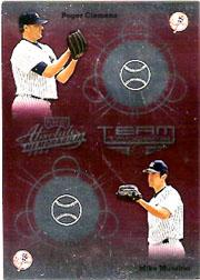 2002 Absolute Memorabilia Team Tandems #19 R.Clemens/M.Mussina