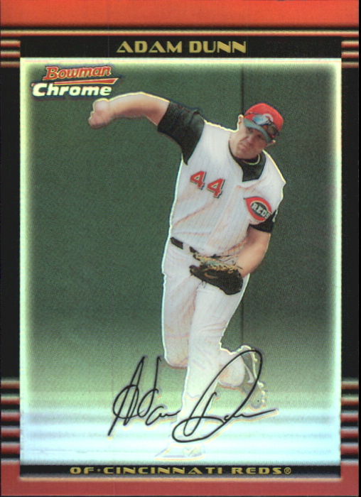 2002 Bowman Chrome Refractors #1 Adam Dunn