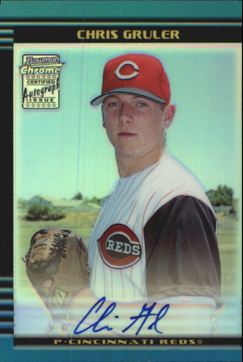 2002 Bowman Chrome Draft Refractors #167 Chris Gruler AU