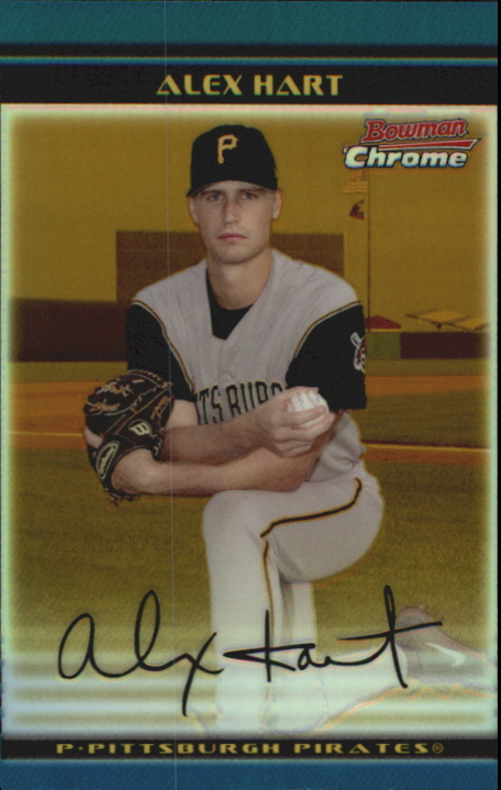 2002 Bowman Chrome Draft Gold Refractors #85 Alex Hart