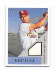 2002 Bowman Heritage Relics #BHAP Albert Pujols Uni C