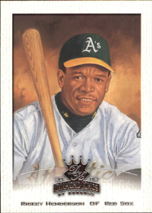 2002 Diamond Kings #35 Rickey Henderson front image