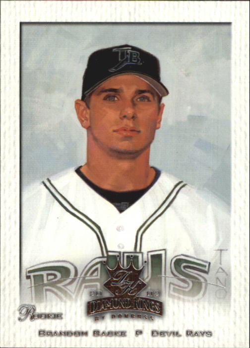2002 Diamond Kings #102 Brandon Backe SP RC