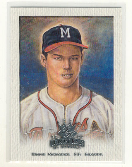 2002 Diamond Kings #136 Eddie Mathews SP