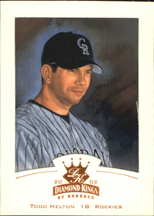 2002 Diamond Kings Bronze Foil #11 Todd Helton