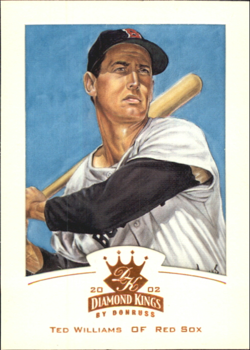 2002 Diamond Kings Bronze Foil #128 Ted Williams