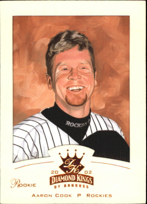 2002 Diamond Kings Bronze Foil #160 Aaron Cook