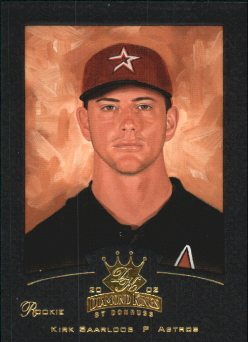 2002 Diamond Kings Gold Foil #154 Kirk Saarloos