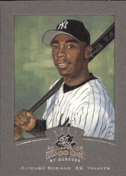 2002 Diamond Kings Silver Foil #10 Alfonso Soriano