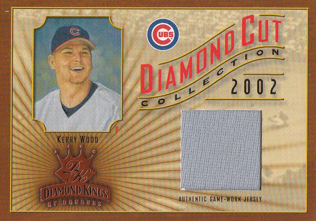 2002 Diamond Kings Diamond Cut Collection #DC80 Kerry Wood Jsy/500