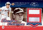 2002 Donruss Classics Timeless Treasures #12 Cal Ripken MVP Jsy/83