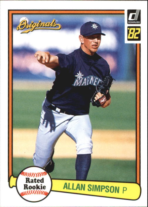 2002 Donruss Originals #2 Allan Simpson 82 RR RC