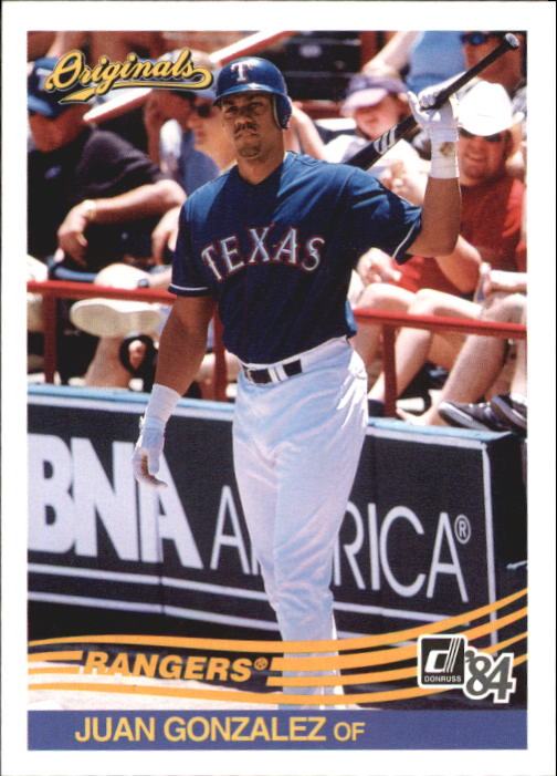 2002 Donruss Originals #153 Juan Gonzalez 84