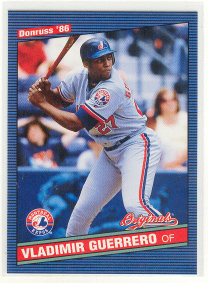 2002 Donruss Originals #315 Vladimir Guerrero 86 SP