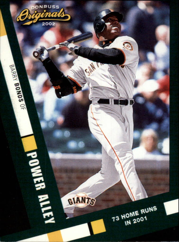 2002 Donruss Originals Power Alley #1 Barry Bonds