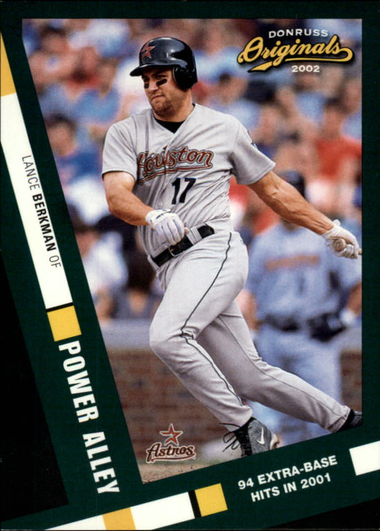 2002 Donruss Originals Power Alley #3 Lance Berkman