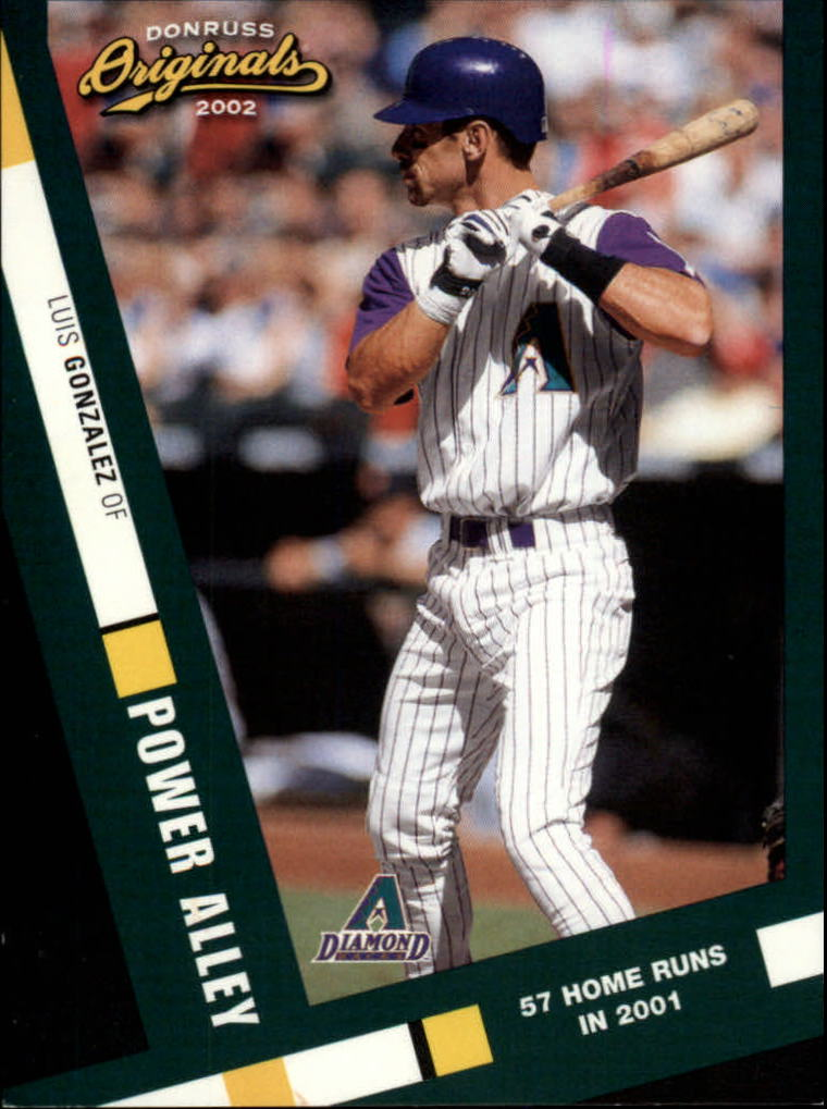 2002 Donruss Originals Power Alley #4 Luis Gonzalez