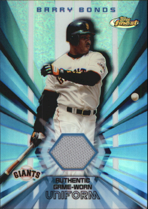 2002 Finest Jersey Relics #FJRBB Barry Bonds