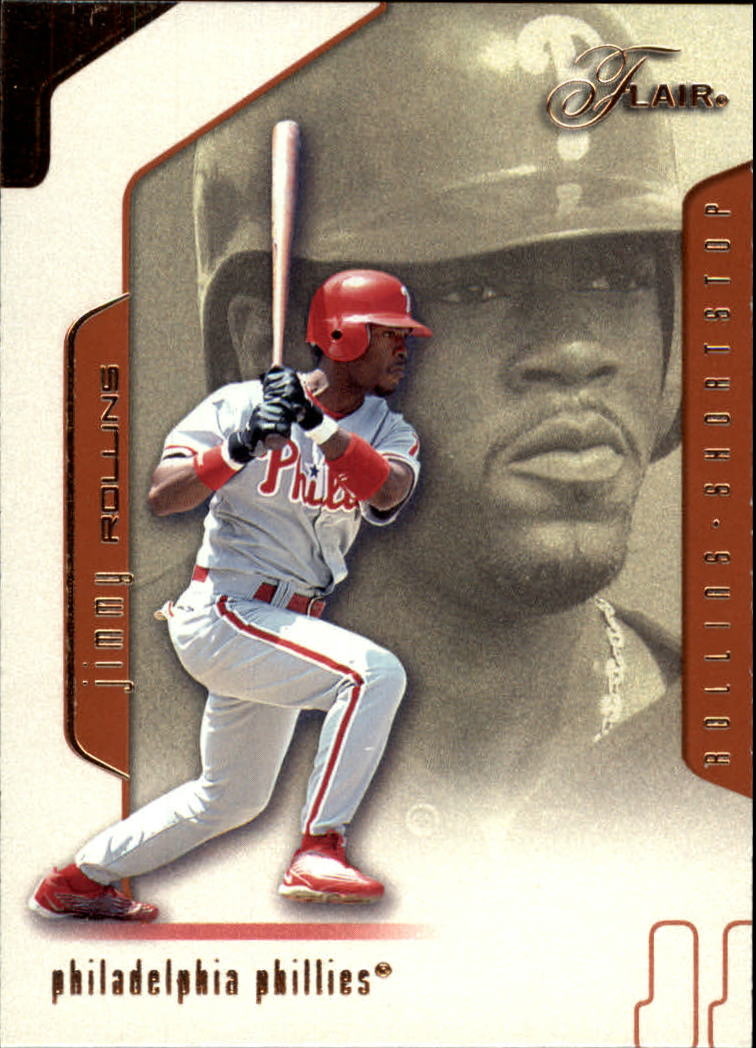 2002 Flair #13 Jimmy Rollins
