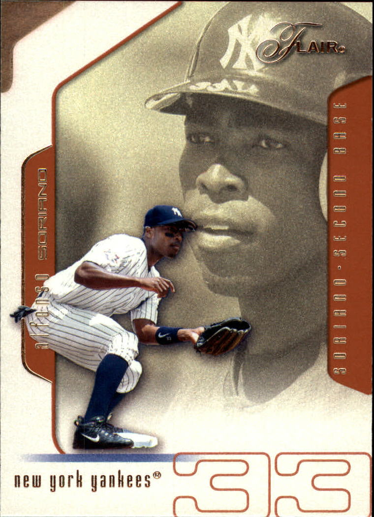 2002 Flair #30 Alfonso Soriano