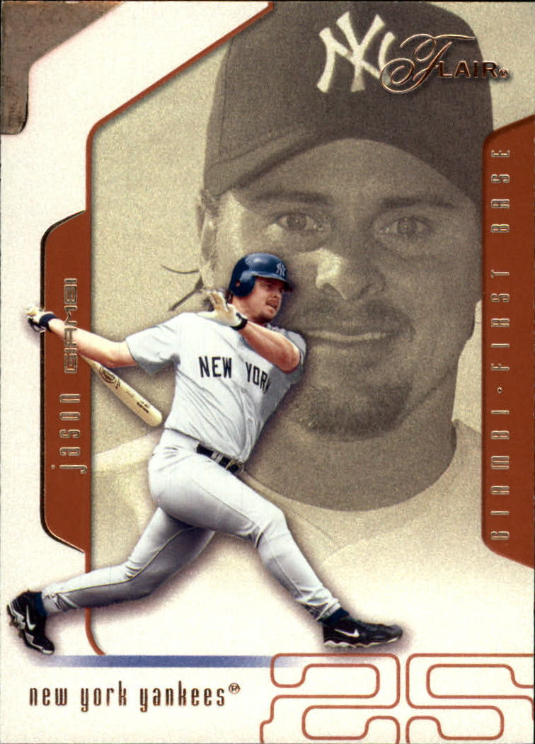 2002 Flair #75 Jason Giambi
