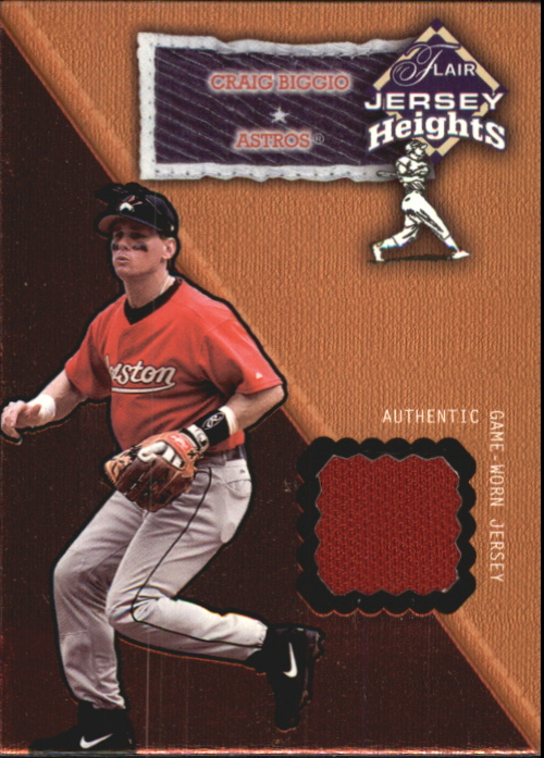 2002 Flair Jersey Heights #3 Craig Biggio